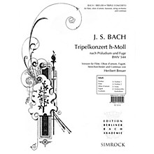 Simrock Triple Concerto Boosey & Hawkes Chamber Music Series by Johann Sebastian Bach