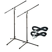 Tripod Mic Stand with 20 Foot Mic Cable (2 Pack)