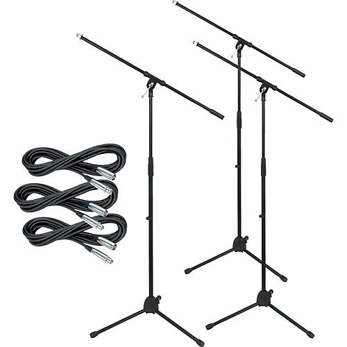 Musician S Gear Tripod Mic Stand With 20 Foot Mic Cable 3