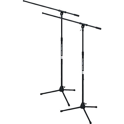 On-Stage Tripod Mic Stand with Boom 2-Pack