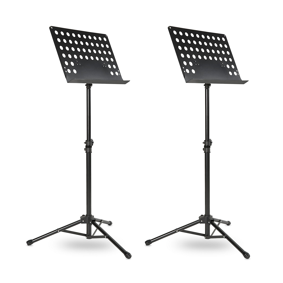 Musician's Gear Tripod Orchestral Music Stand Perforated Black - 2 Pack