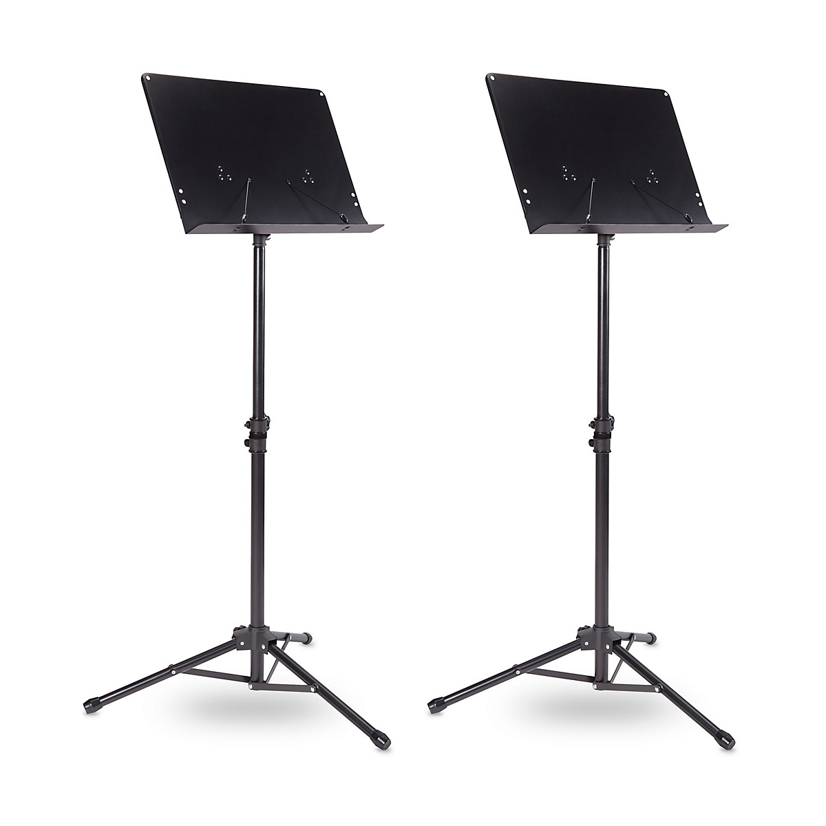 Musician's Gear Tripod Orchestral Music Stand Regular Black - 2 Pack
