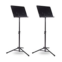 2 Pack Musicians Gear Tripod Orchestral Music Stand Regular