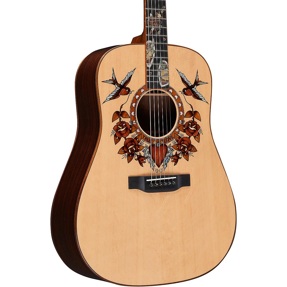 Martin True Love Sailor Jerry Dreadnought Acoustic Guitar