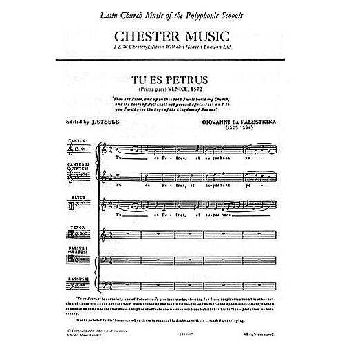 Chester Music Tu es Petrus SSATBB Composed by Giovanni Palestrina