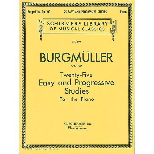 G. Schirmer Twenty-Five Easy And Progressive Studies For The Piano Op. 100 Complete 25