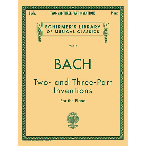 G. Schirmer Two And Three Part Inventions for The Piano By Bach