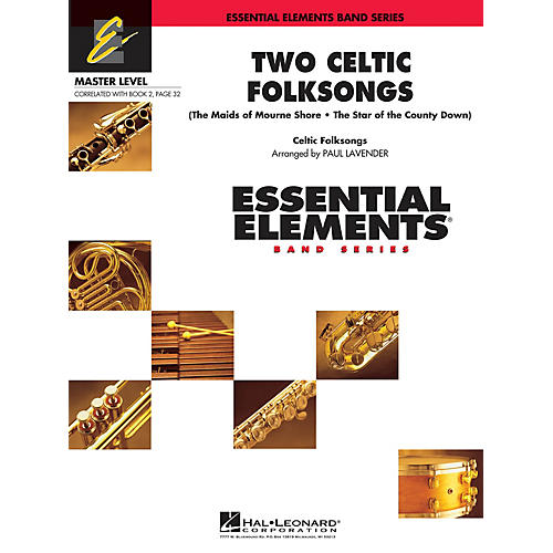 Hal Leonard Two Celtic Folksongs Concert Band Level 2 Arranged by Paul Lavender