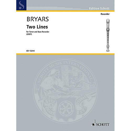 Schott Two Lines (Tenor and Bass Recorder) Schott Series by Gavin Bryars