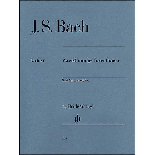 G. Henle Verlag Two Part Inventions BWV 772-786 By Bach