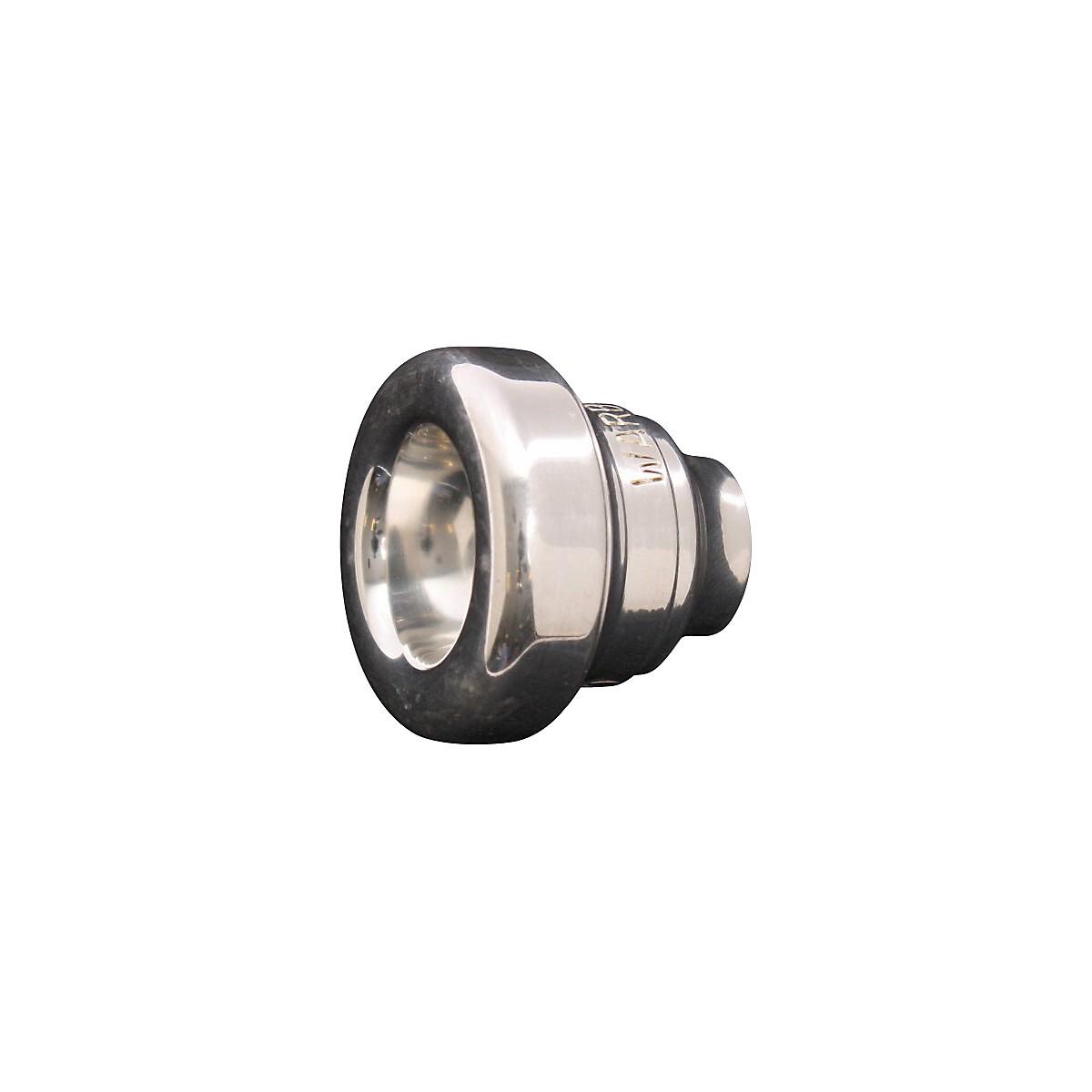 Warburton Two-Piece Tenor Trombone Mouthpiece System in Silver