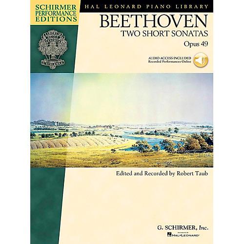 G. Schirmer Two Short Piano Sonatas Op 49 Book/CD Schirmer Performance Edition By Beethoven / Taub