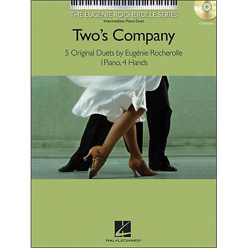 Hal Leonard Two's Company Eugenie Rocherolle Series: Intermediate Level Piano Duets Book/CD