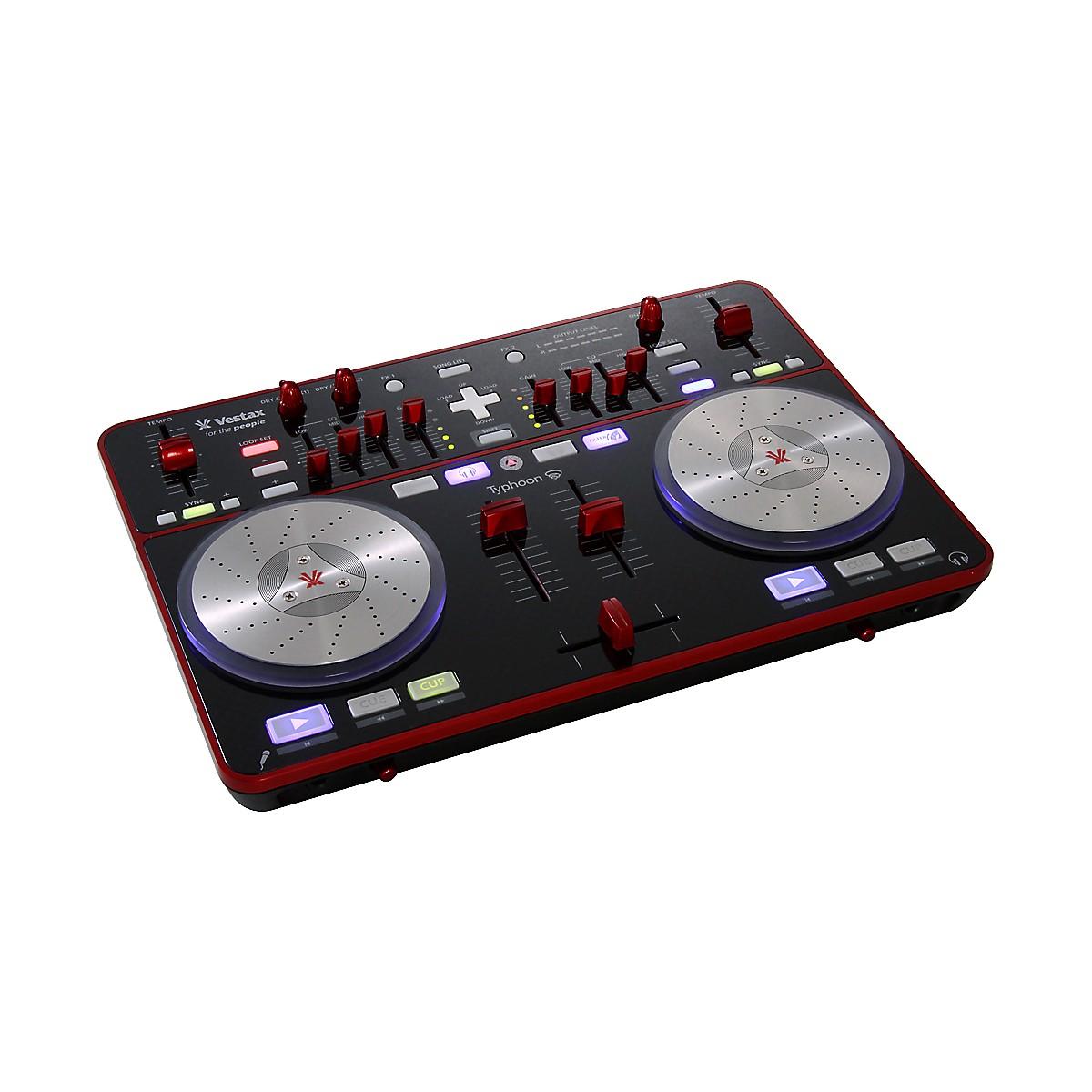 Vestax Typhoon DJ MIDI controller with sound card