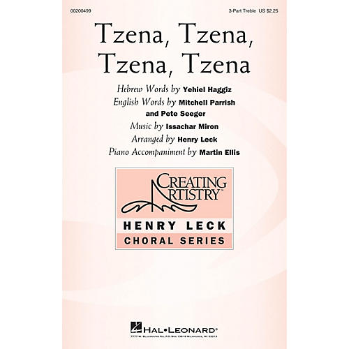 Hal Leonard Tzena, Tzena, Tzena, Tzena 3 Part Treble arranged by Henry Leck