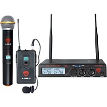 Nady U-2100 Dual 100-Channel UHF Wireless Handheld and Lapel Microphone System/Band A/B