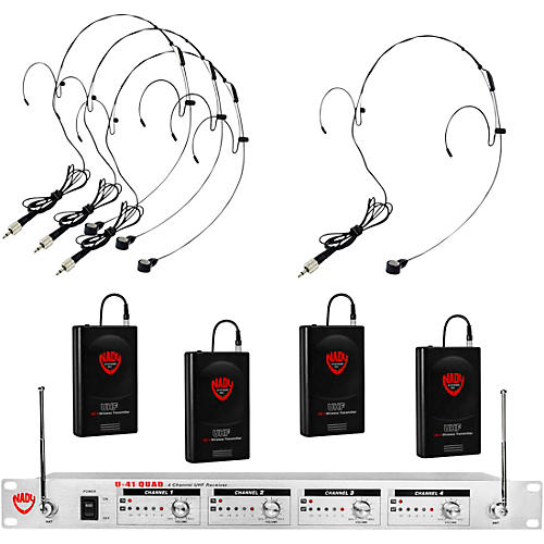 Nady U-41 Quad HM20U Headset Wireless System (14/16/10/12 )