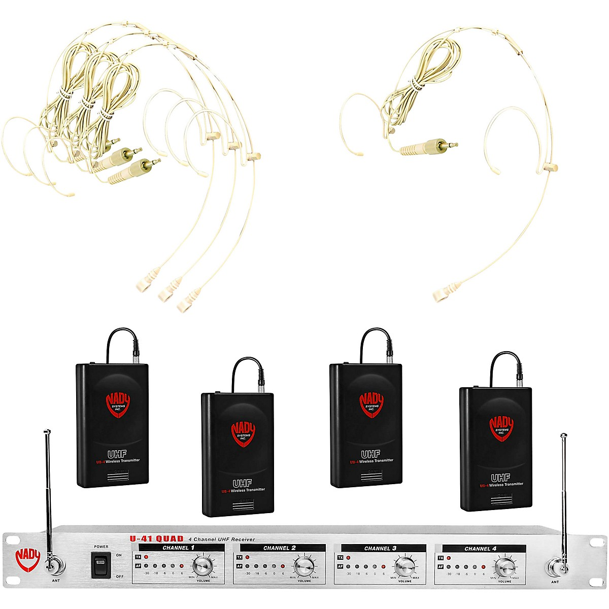 Nady U-41 Quad HM20U Headset Wireless System (16/14/10/12 )