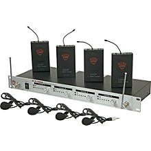 Nady U-41 Quad Omni Lav Wireless System (14/16/10/12) Level 1 Black