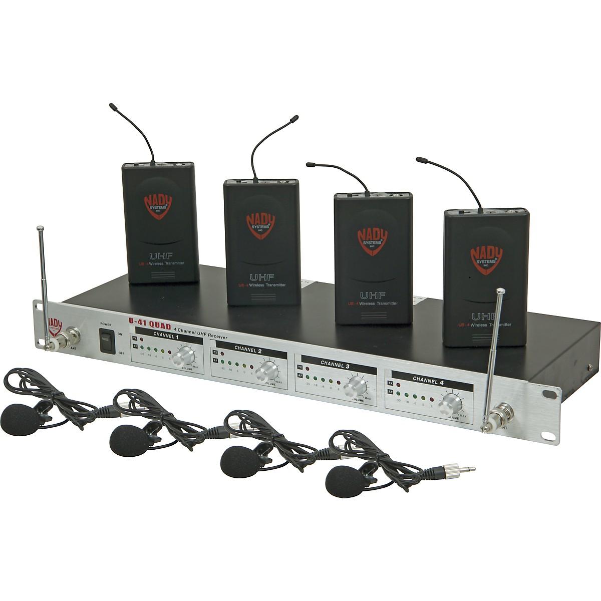 Nady U-41 Quad Omni Lav Wireless System (14/16/10/12)