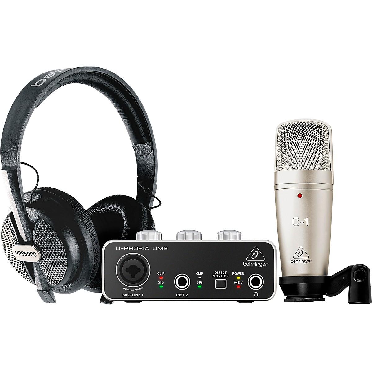 Behringer U-PHORIA STUDIO Complete Recording/Podcasting Bundle