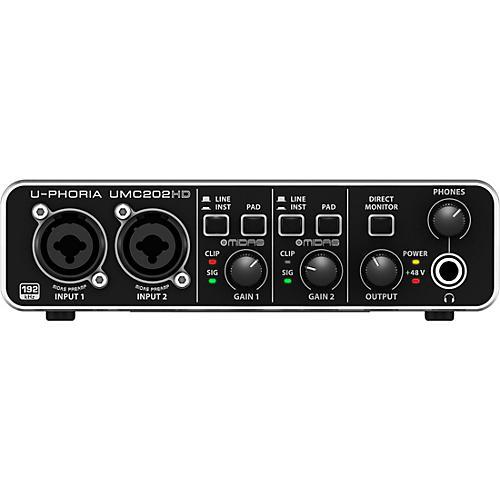 Behringer U-PHORIA UMC202HD Audiophile 2x2, 24-Bit/192 kHz USB Audio Interface