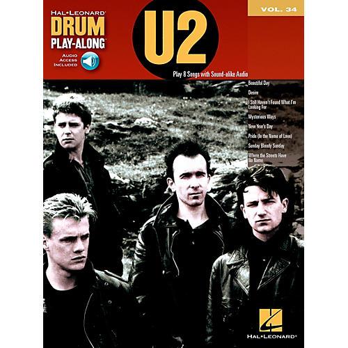Hal Leonard U2 - Drum Play-Along Volume 34 Book/CD