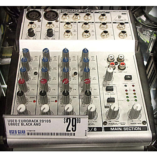 In Store Used UB802 Black And Silver Unpowered Mixer