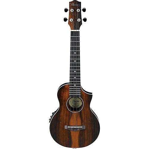 ibanez uew13mee acoustic electric concert ukulele satin natural guitar center. Black Bedroom Furniture Sets. Home Design Ideas