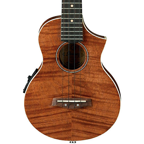 ibanez uew15e flame mahogany concert acoustic electric ukulele natural guitar center. Black Bedroom Furniture Sets. Home Design Ideas