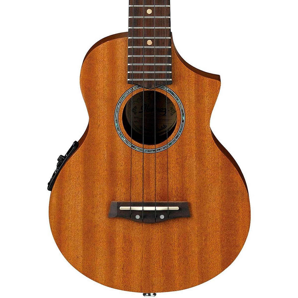 Ibanez UEW5E All-Mahogany Concert Acoustic-Electric Ukulele