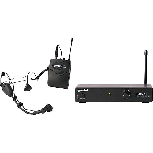 Gemini UHF-01HL Wireless Headset/Lavalier Combo System