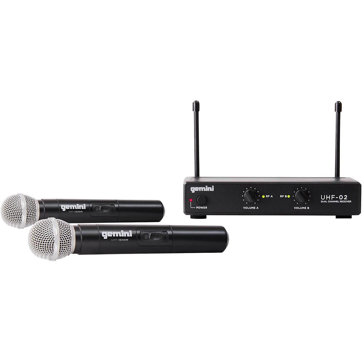 Gemini UHF-02M 2-Channel Wireless Handheld Microphone System