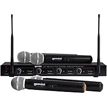 Gemini UHF-04M 4-Channel Wireless Handheld Microphone System