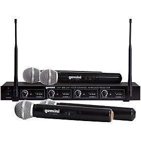 gemini uhf 04m 4 channel wireless handheld microphone system s1234 guitar center. Black Bedroom Furniture Sets. Home Design Ideas