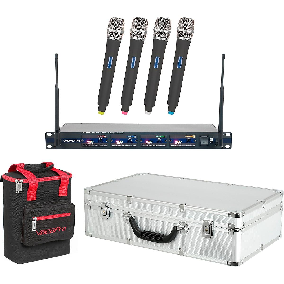 Vocopro UHF-5800 Plus 4-Mic Wireless System with Mic Bag