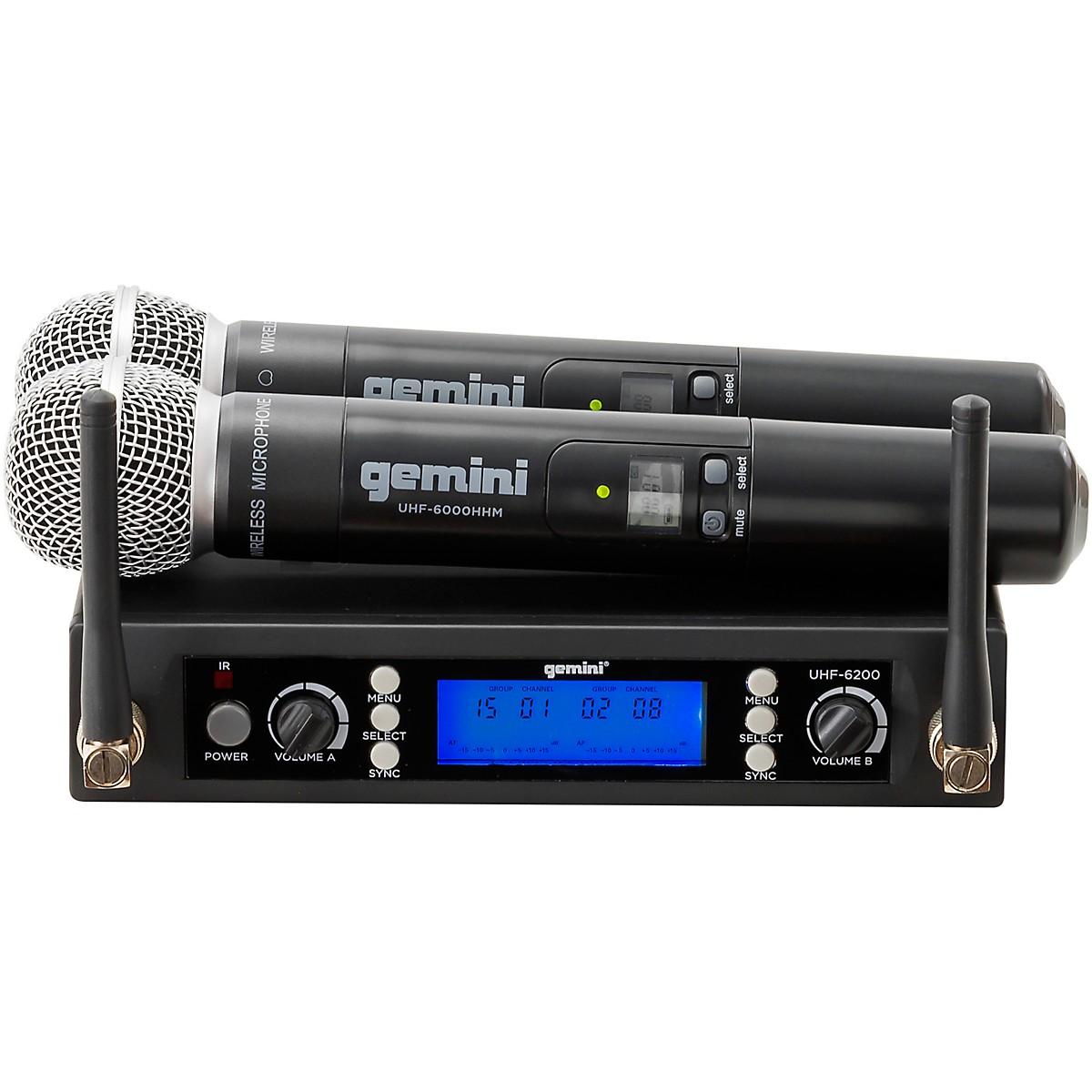 Gemini UHF-6200M UHF Dual Handheld system