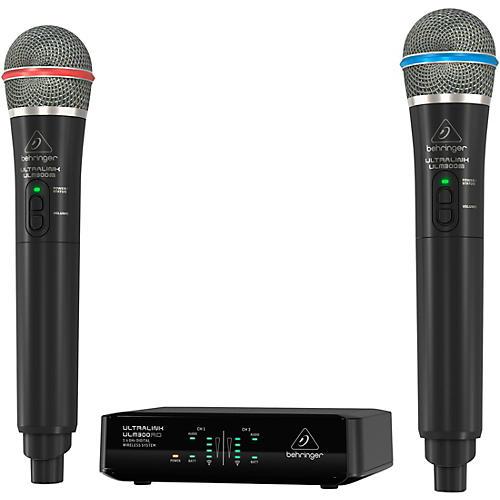 behringer ulm302mic high performance 2 4 ghz digital wireless system with 2 handheld microphones. Black Bedroom Furniture Sets. Home Design Ideas