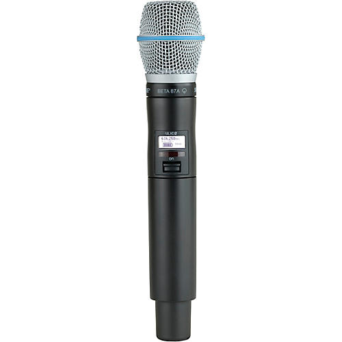 Shure ULXD2/B87A Wireless Handheld Microphone Transmitter With Interchangeable BETA 87A Microphone Cartridge