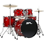 UNITY II 5-Piece Complete Drum Set With Hardware, Cymbals and Throne Desert Red Speckle