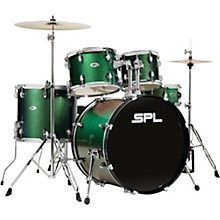 UNITY II 5-Piece Complete Drum Set With Hardware, Cymbals and Throne Pine Green Glitter
