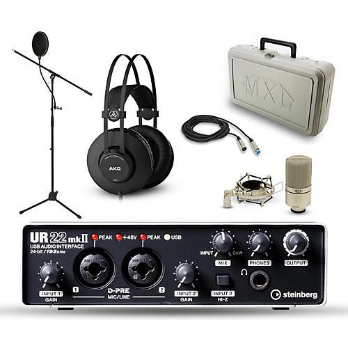 Steinberg UR-22mkII, MXL 990 and AKG K52 Package