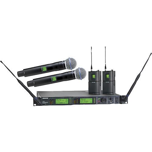 Shure UR124D/BETA58 Dual Bodypack Handheld Wireless Microphone System
