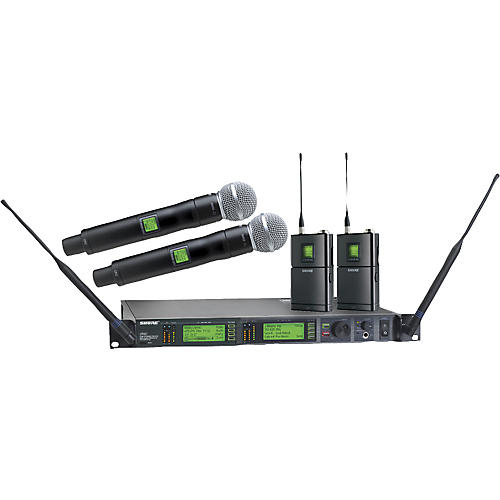 shure ur124d sm58 dual wireless instrument microphone system guitar center. Black Bedroom Furniture Sets. Home Design Ideas