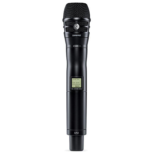 Shure UR2/K8B Handheld Transmitter with KSM8 Capsule in Black