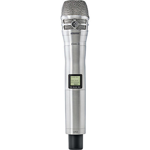 Shure UR2/K8N Handheld Transmitter with KSM8 Capsule in Nickel
