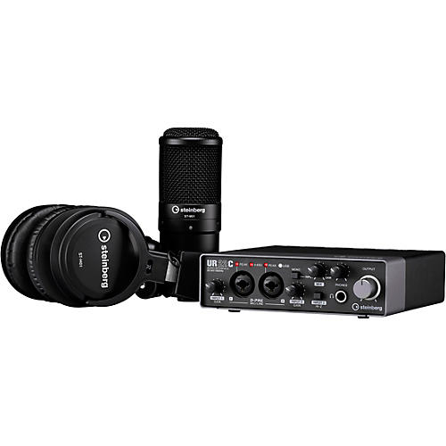 Steinberg UR22C Recording Pack with 2IN/2OUT USB 3.0 Type C Audio Interface, Microphone & Headphones