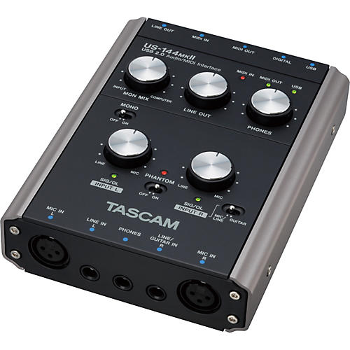 Tascam US-144MKII USB 2.0 4-channel Audio/MIDI Interface