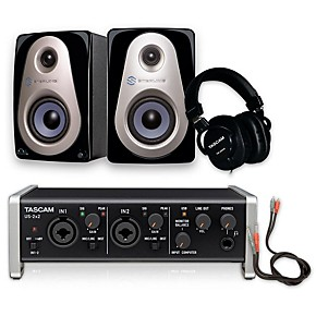 tascam us 2x2 th 200x headphone package guitar center. Black Bedroom Furniture Sets. Home Design Ideas