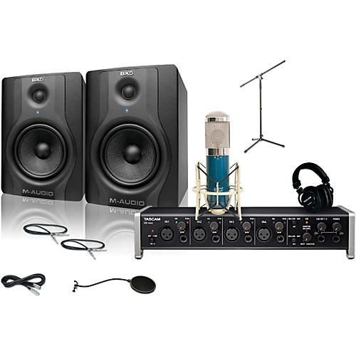 tascam us 4x4 mxl 4000 and m audio bx5 recording package 1 guitar center. Black Bedroom Furniture Sets. Home Design Ideas